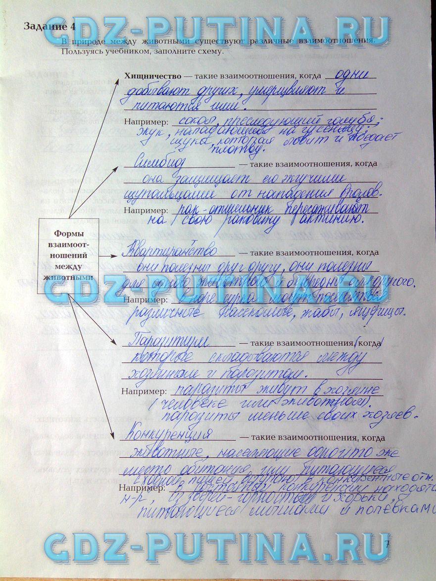 Смотреть рабочую тетрадь по биологии 7 класс суматохин кучменко