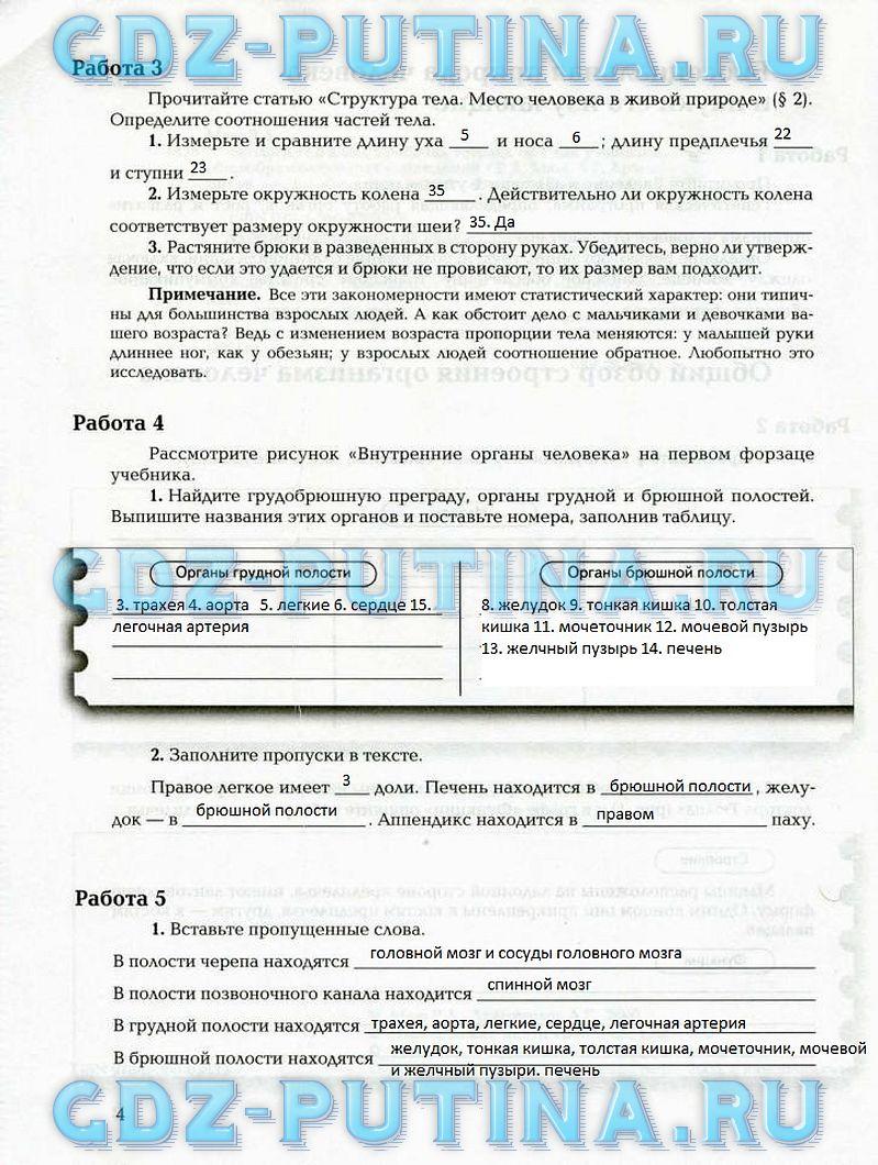 Решебник к учебнику биологии 8 класс драгомилов онлайн