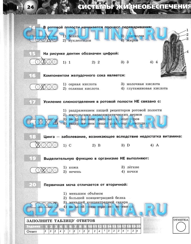 Тетрадь экзаменатор 7 класс сухорукова решебник