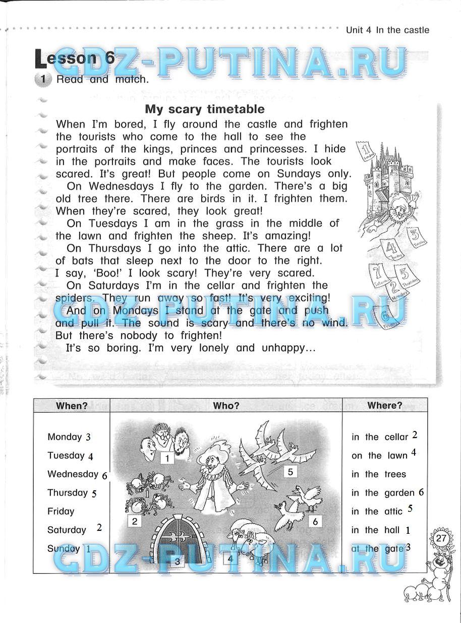 Гдз по английскому 4 класс рабочая тетрадь милли азарова онлайн