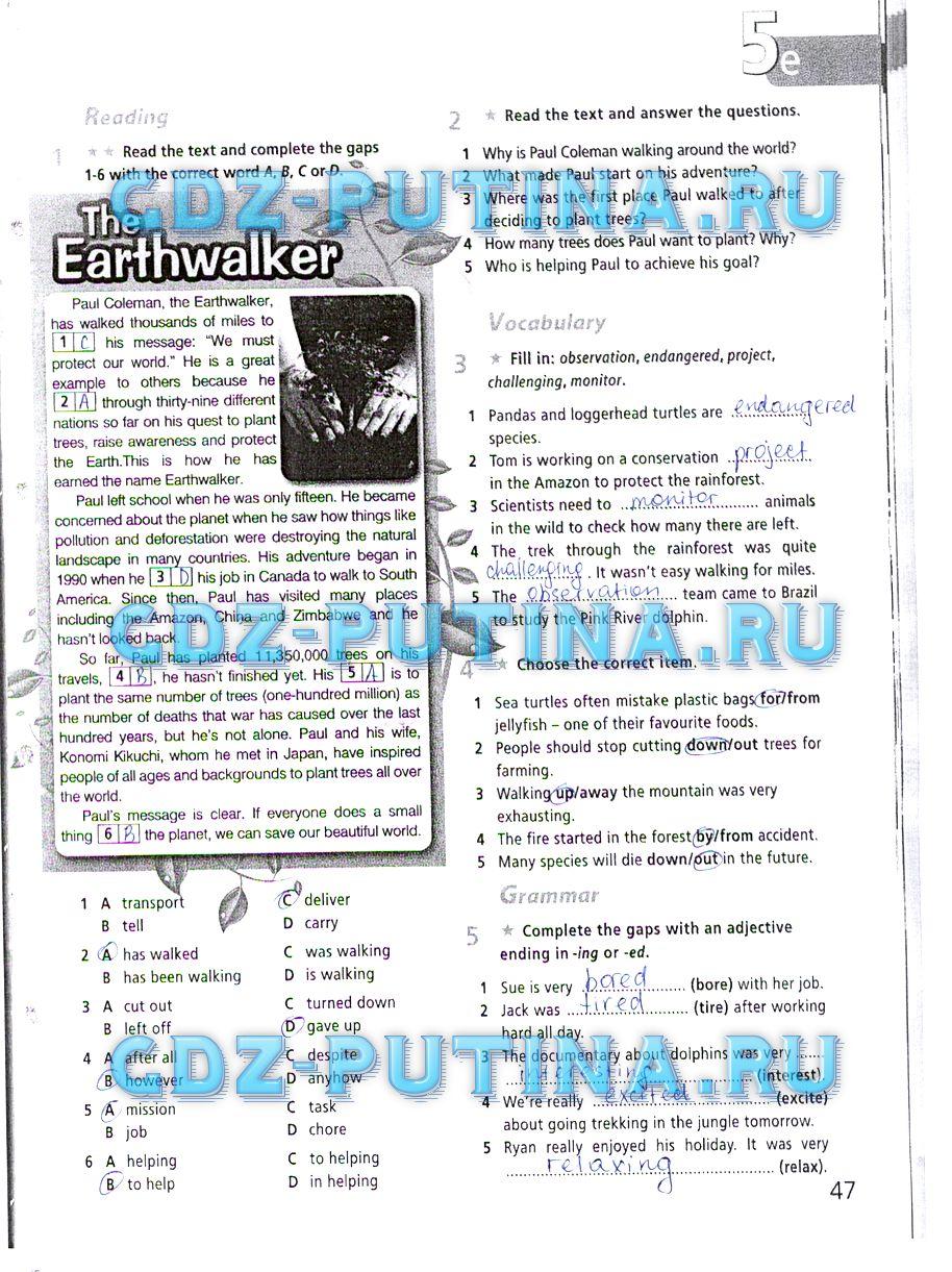 решебник по английскому рабочая тетрадь 6 класс не скачивать