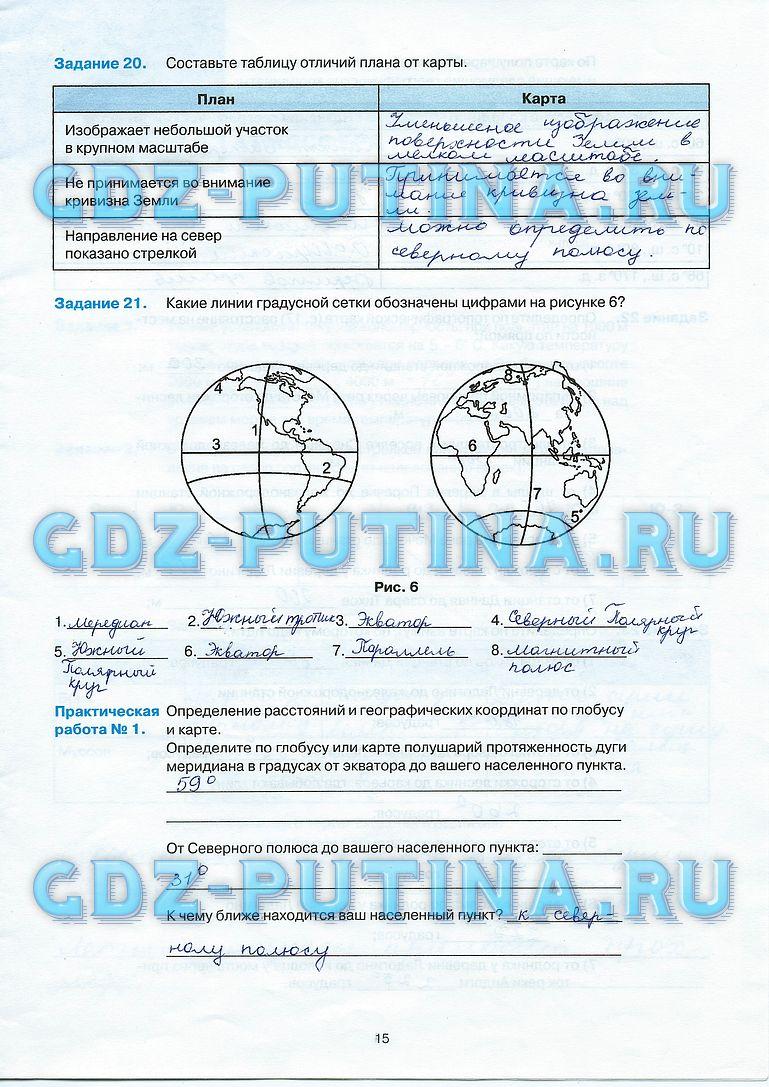 Решебник по Географии 5 Класс Контурные Карты Баринова Суслов