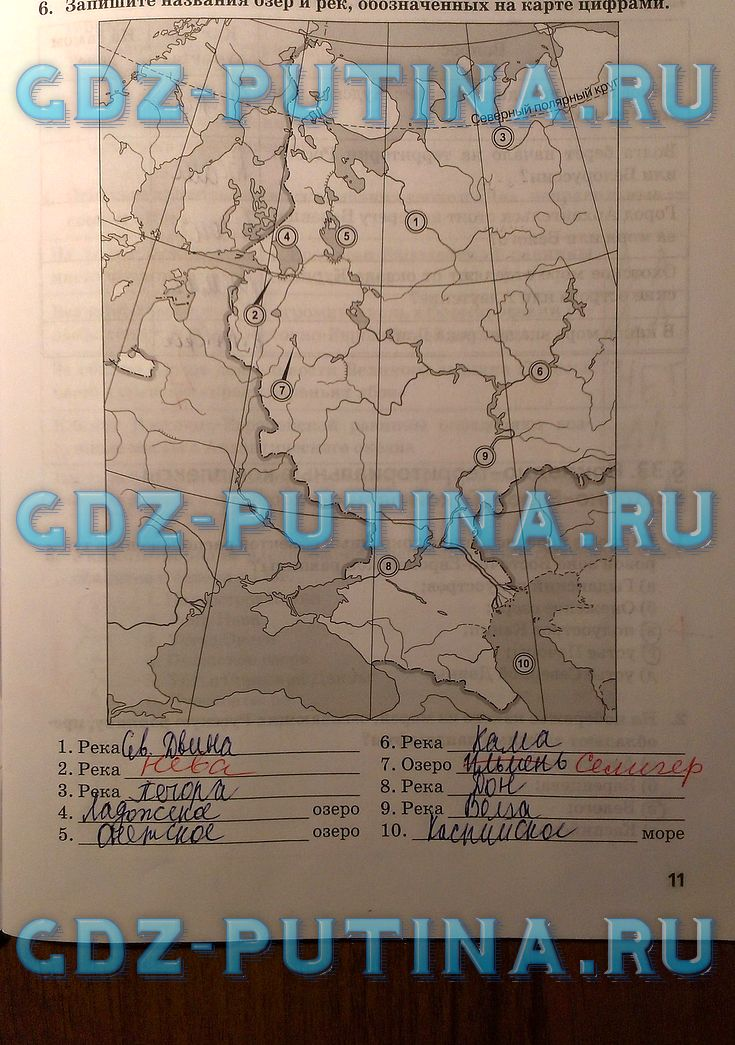 гдз рабочая тетрадь география 11 домогацких часть 2
