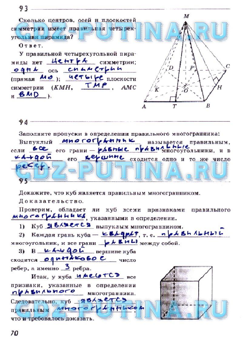 класс глазки гдз юдина по геометрии 10
