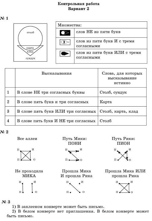 Готовое домашнее задание по информатике учебник горячева 3 класс
