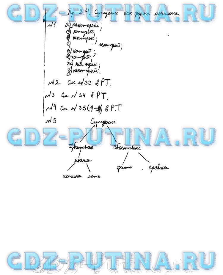 Информатика учебник босова путина класс гдз 6