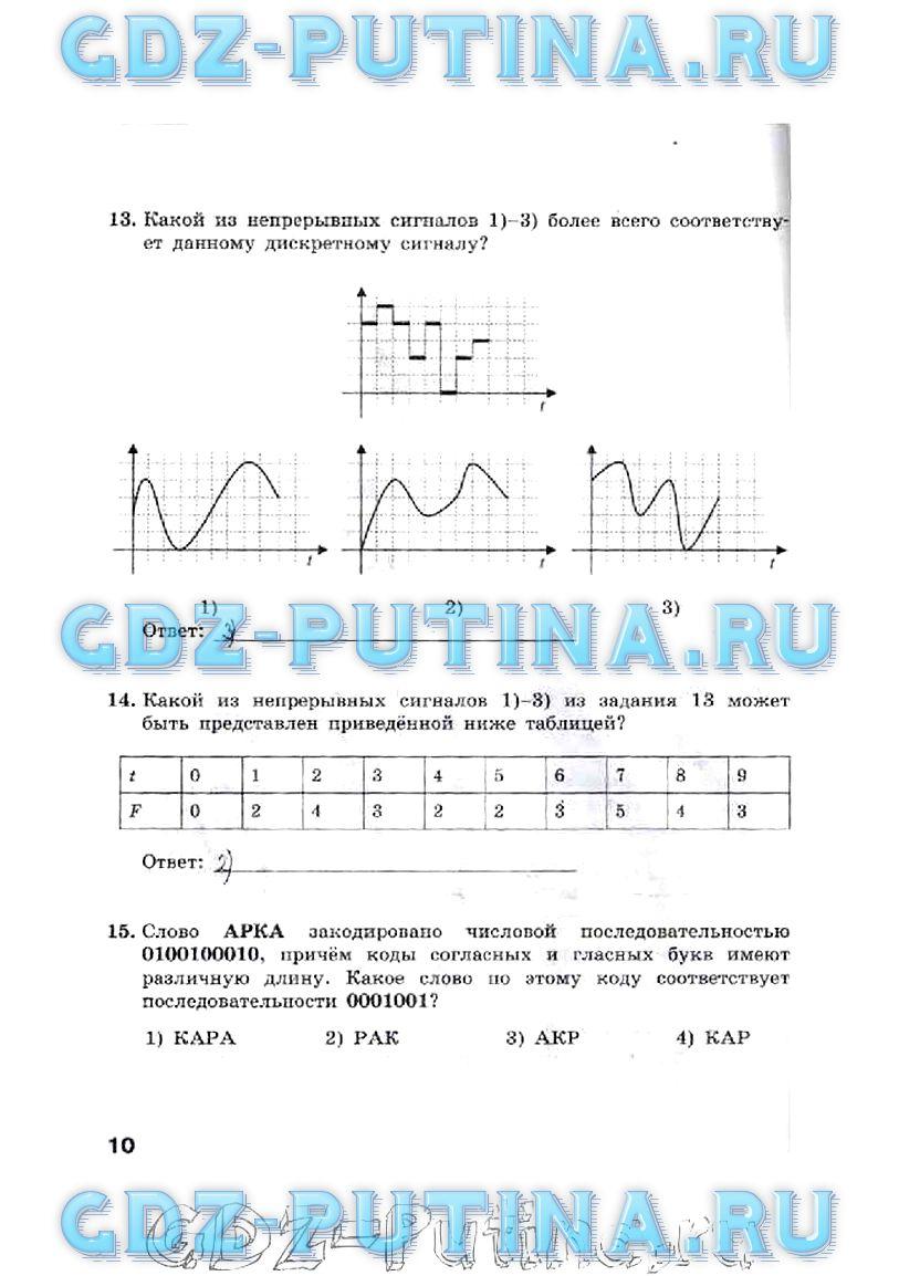 Гдз по рабочей тетради по информатике 8 класс 3-издание