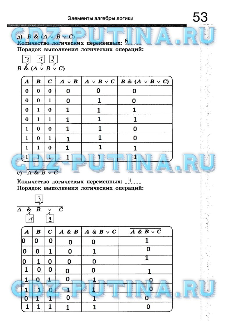 Информатике 8 по гдз класс рабочая aujc тетрадь
