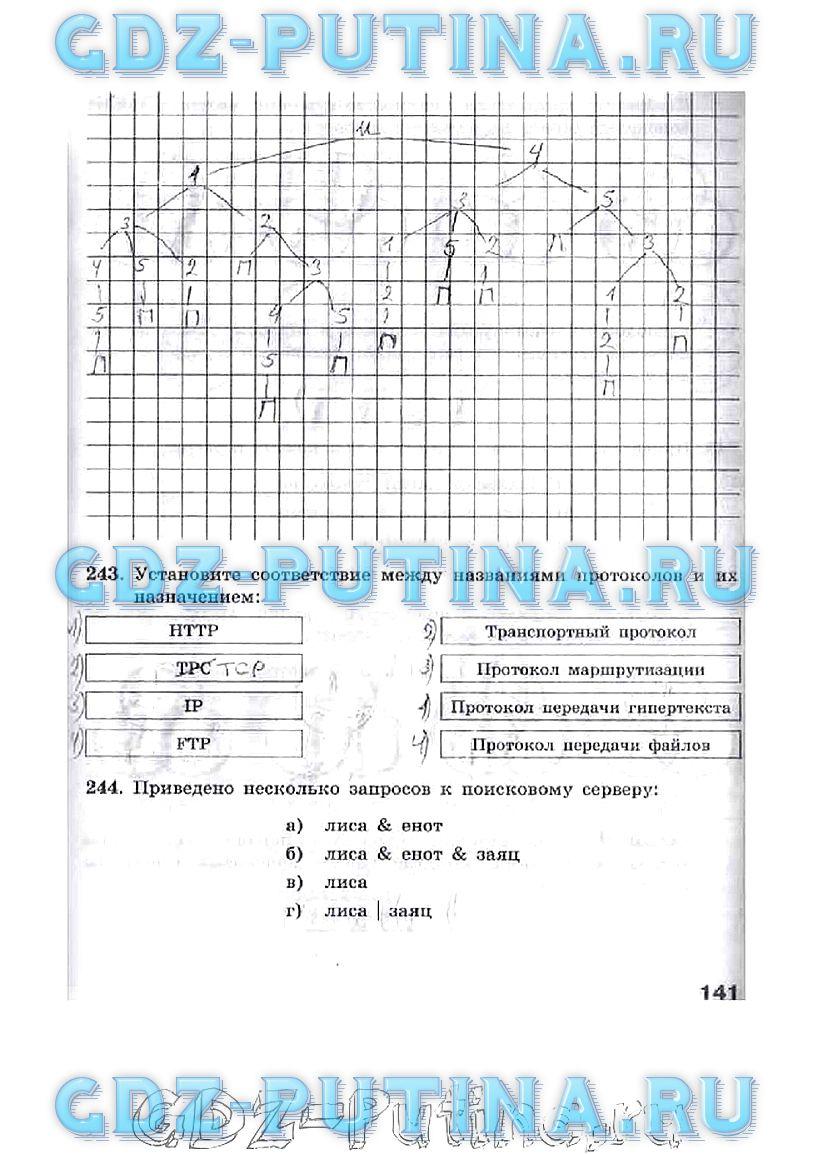 Фгос рабочая фгос решебник по ответы класс тетрадь информатике 9 босова