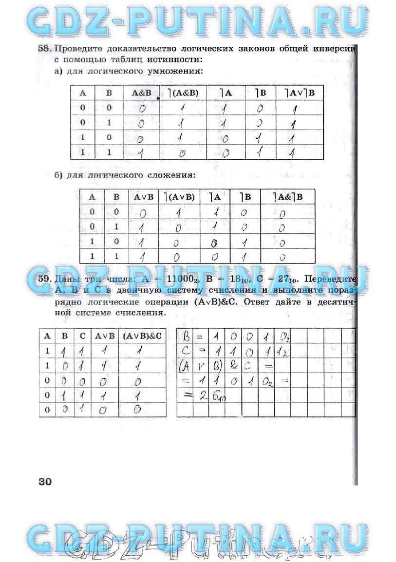Гдз информатика 9 класс домашнее задание