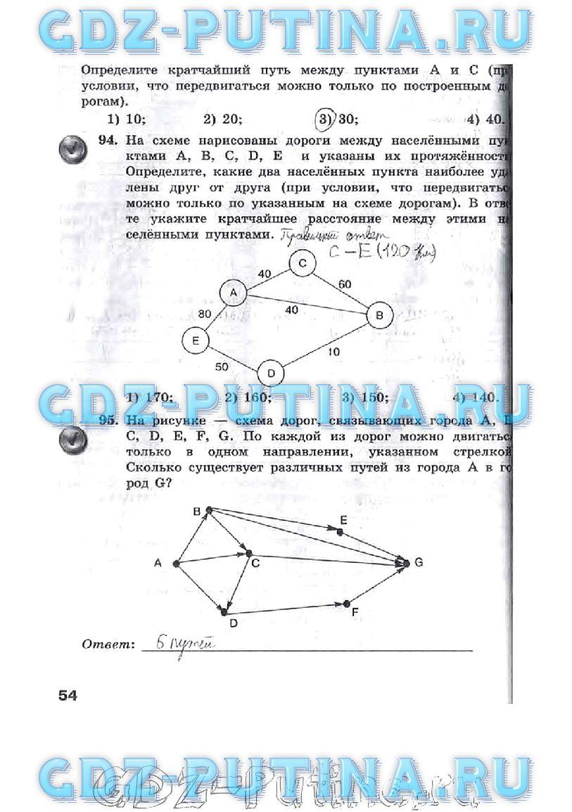 9 Класс Информатика Босова ГДЗ Учебник
