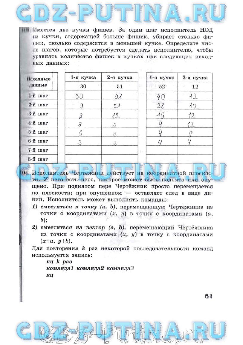 Гдз информатика 7 класс рабочая тетрадь фгос