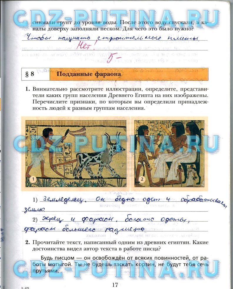 Гдз Рабочая Тетрадь По Историй Древнего Мира Ванина Данилова