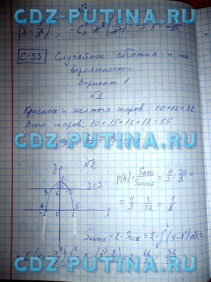 гдз для самостоятельных работ по алгебре 8 класс александрова ответы