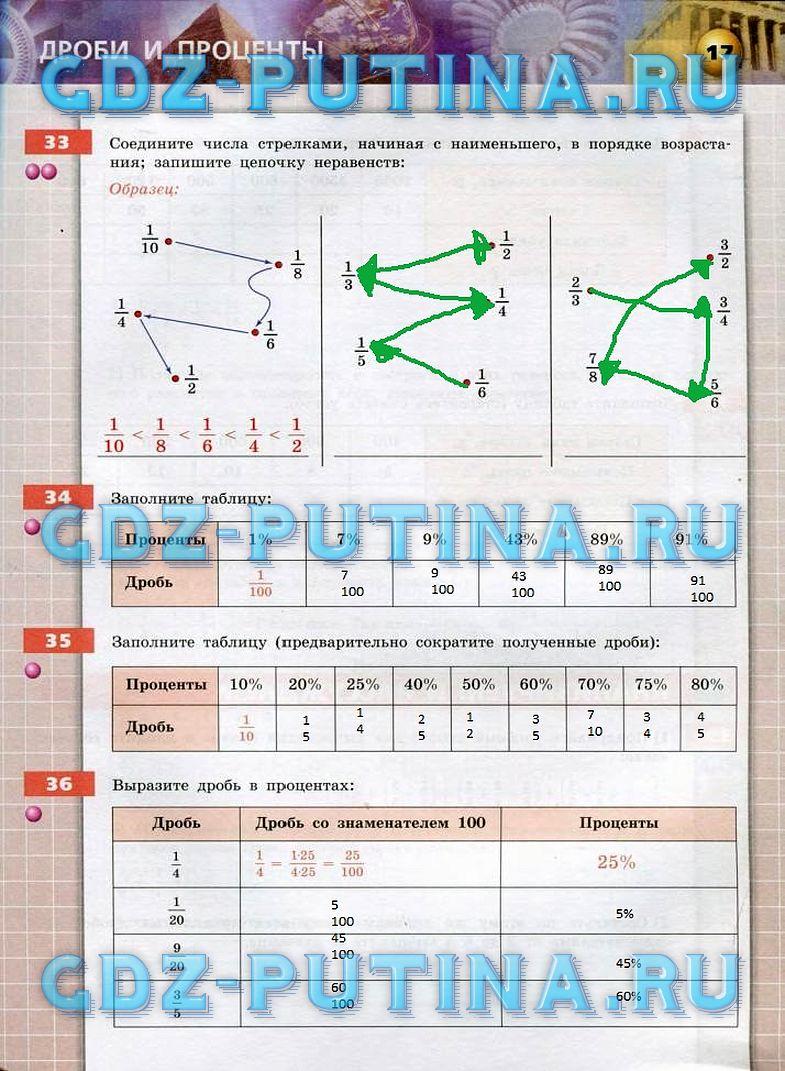 Решебник по математике 6класс бунимович