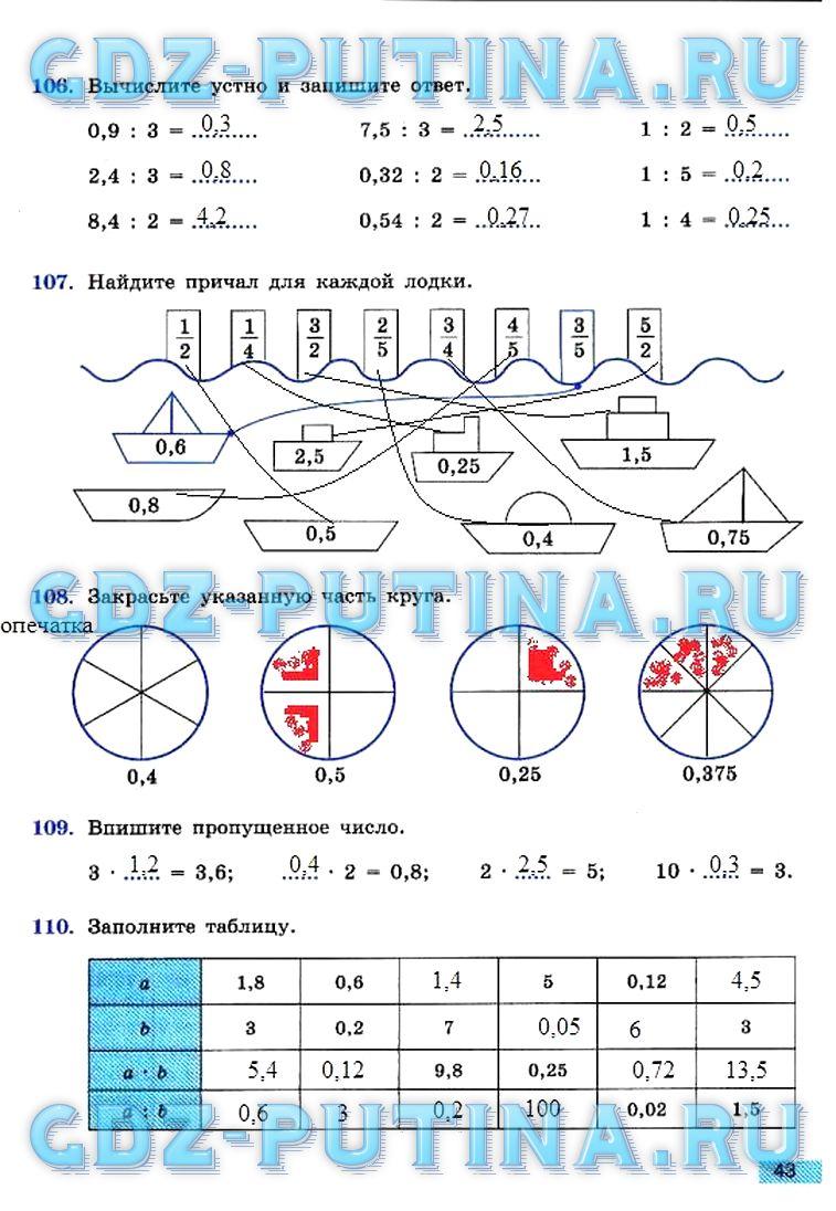 Гдз по математике 6 класс бунимович рабочая тетрадь