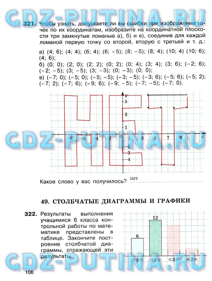 Ответы по математике 6 класса потапов