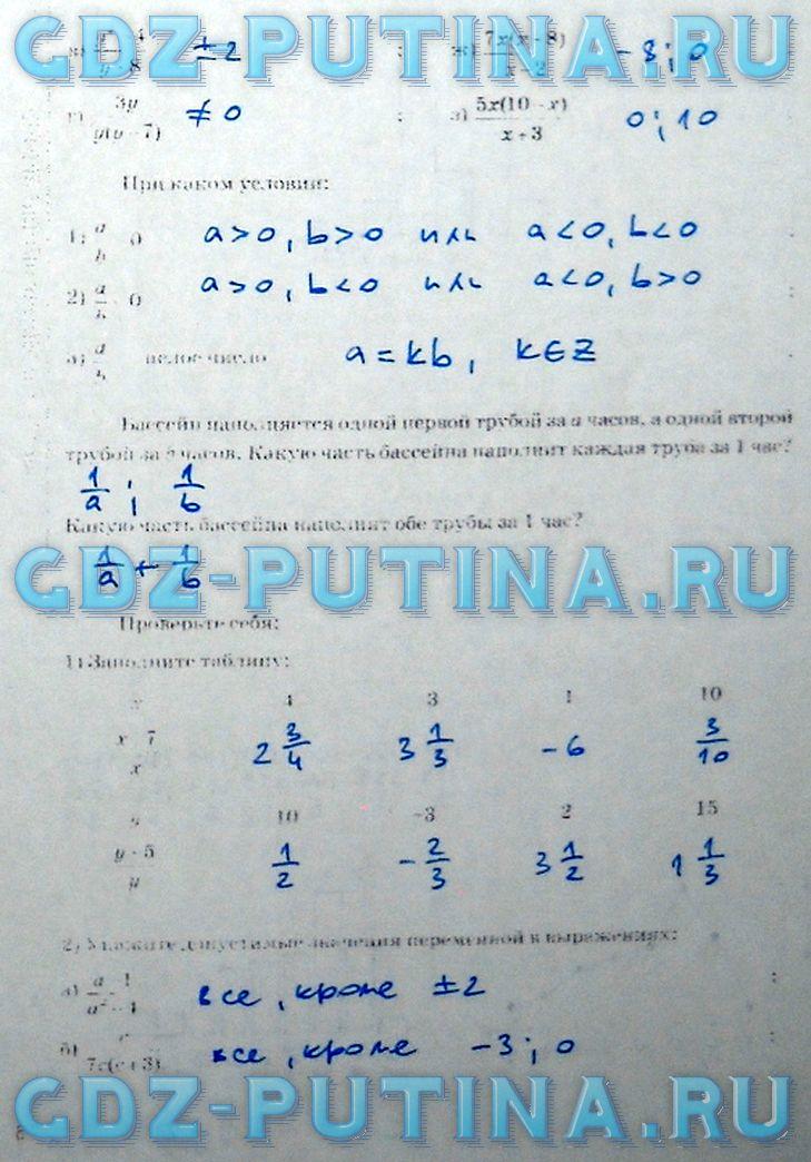 Решебник по печатной тетради алгебра 8 класс ерина