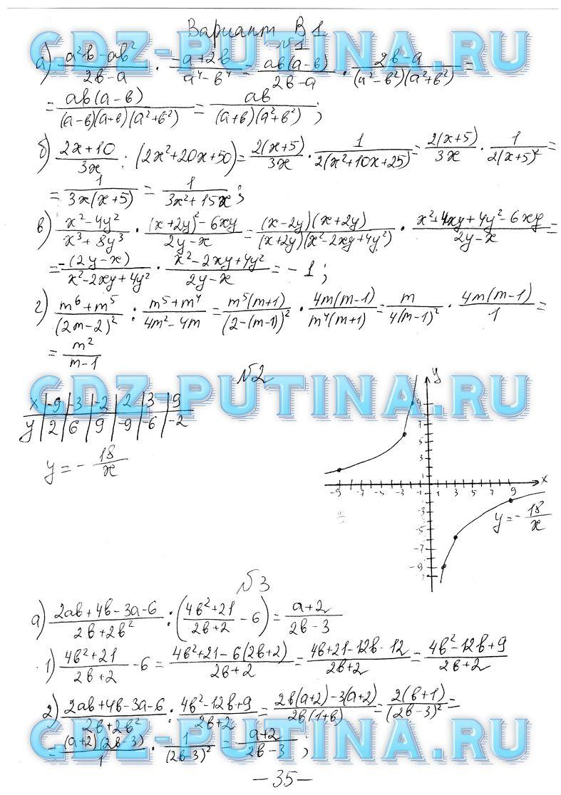 Готовое задание по алгебре по самостоятельным работам 8 класс а.п ершова в.в.голобородько