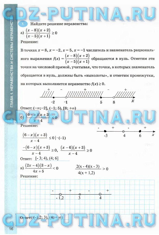 Решебник по алгебре 9 рабочая тетрадь