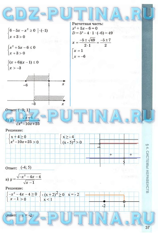 Решебник ГДЗ алгебра 9 класс Ключникова Комиссарова — рабочая тетрадь