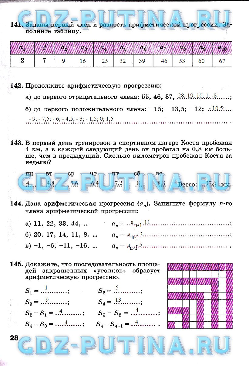 Гдз Ответы 8 Класс Рабочая Тетрадь по Алгебре ключникова - картинка 1
