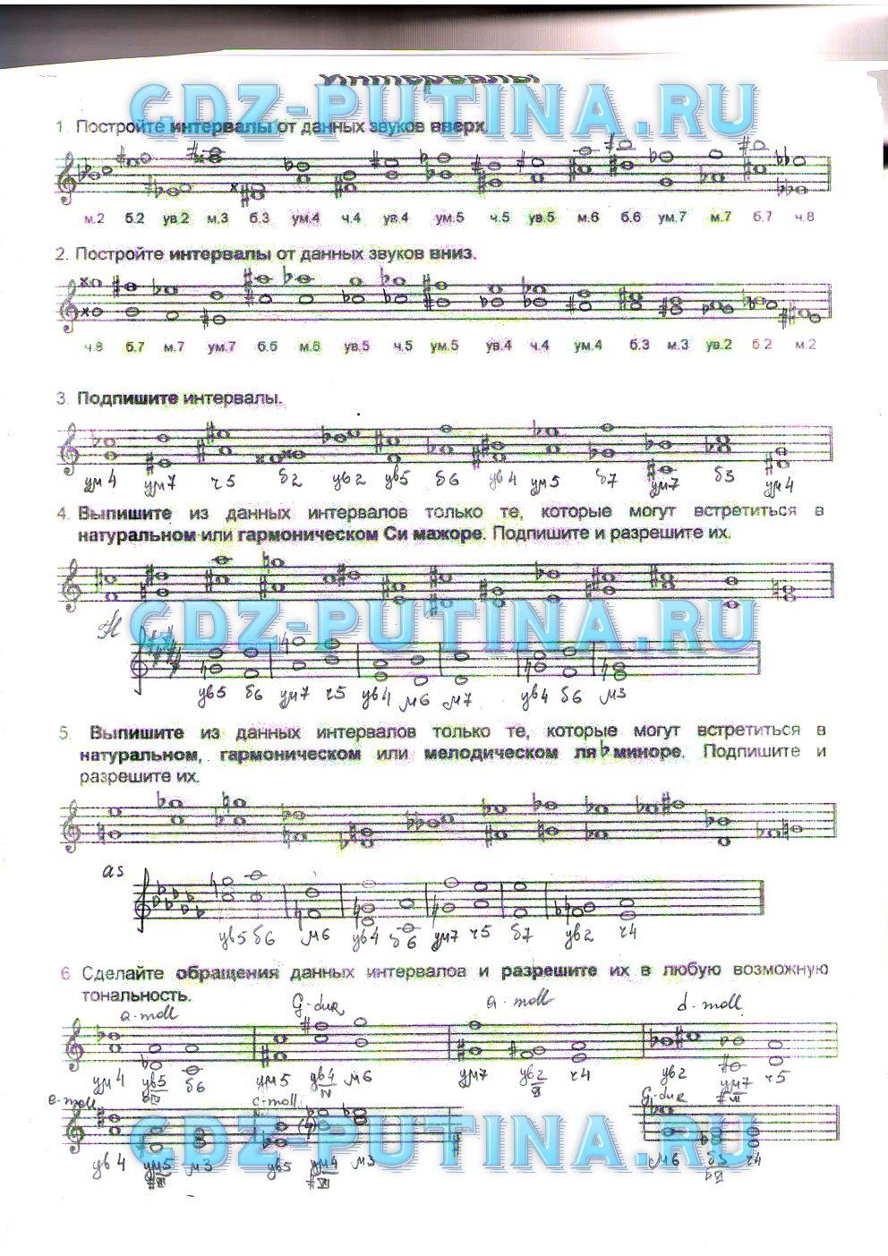 Гдз по музыке 7 класс творческая тетрадь