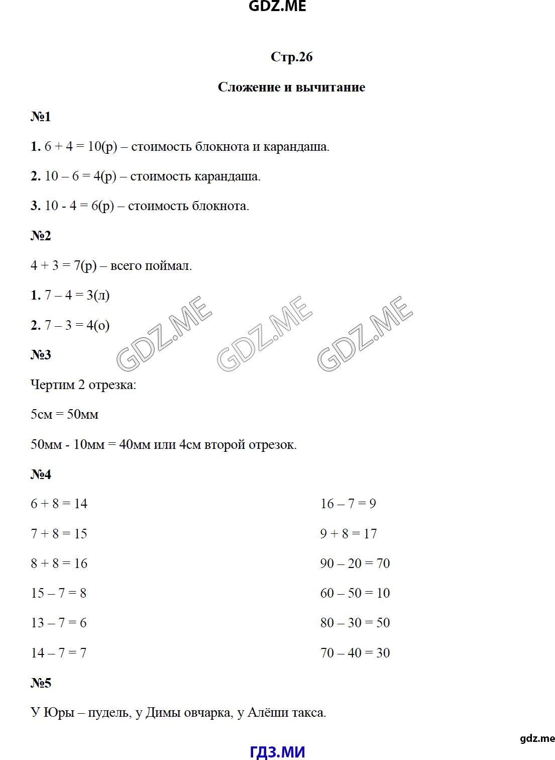 Готовые домашние задания по математике для начальных кассов