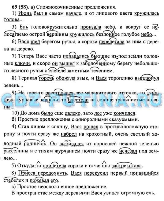 ГДЗ по русскому 9 класс зеленый учебник
